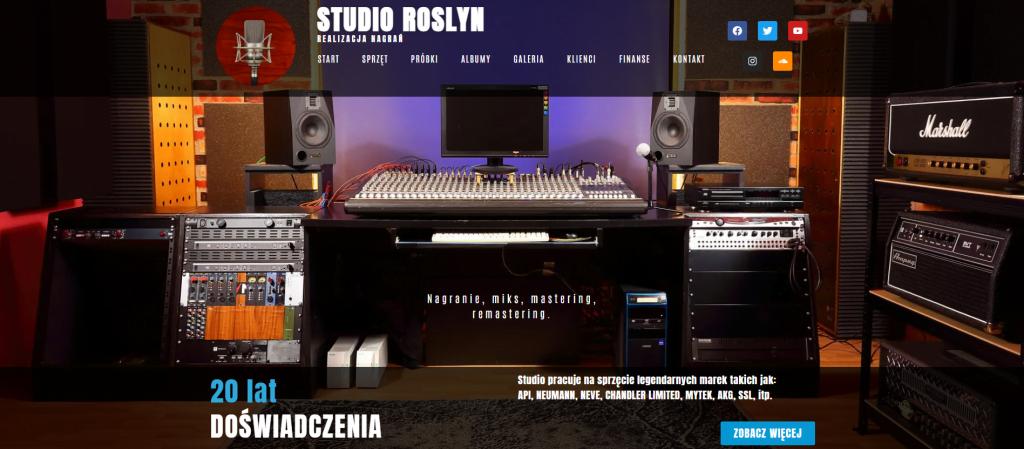 Strona internetowa Studio Roslyn - Savitarium